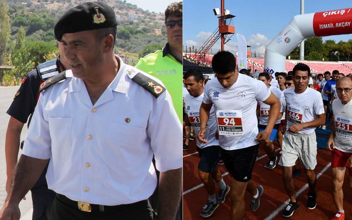 Binbaşı Ali Demir Balıkesir'de katıldığı koşuda kalp kirizi geçirip yaşamını yitirdi...