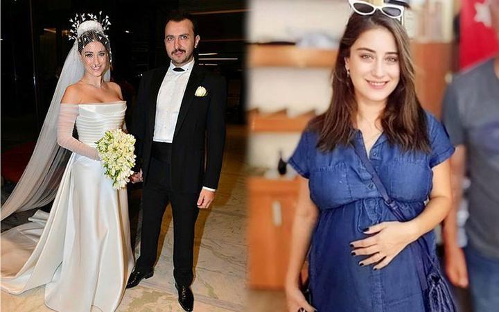 Hazal Kaya doğuma 1 ay kala paylaştı hamilelik pozu TT oldu