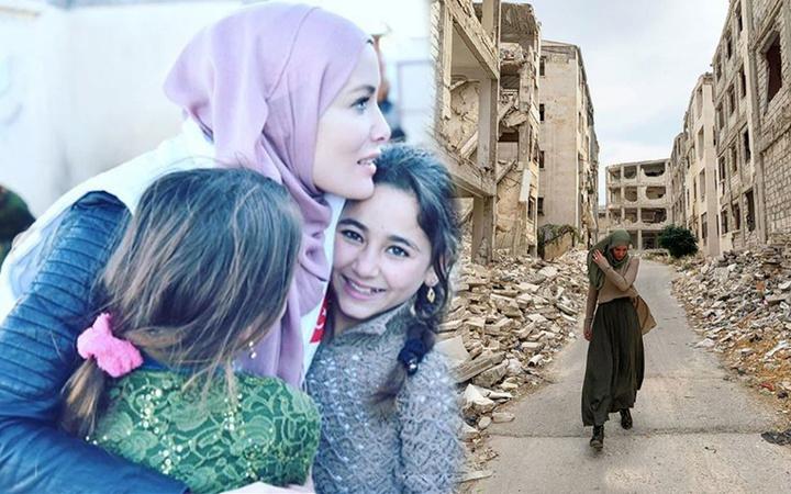 Yürek sızlatan görüntüler Gamze Özçelik Halep'teki acı durumu paylaştı