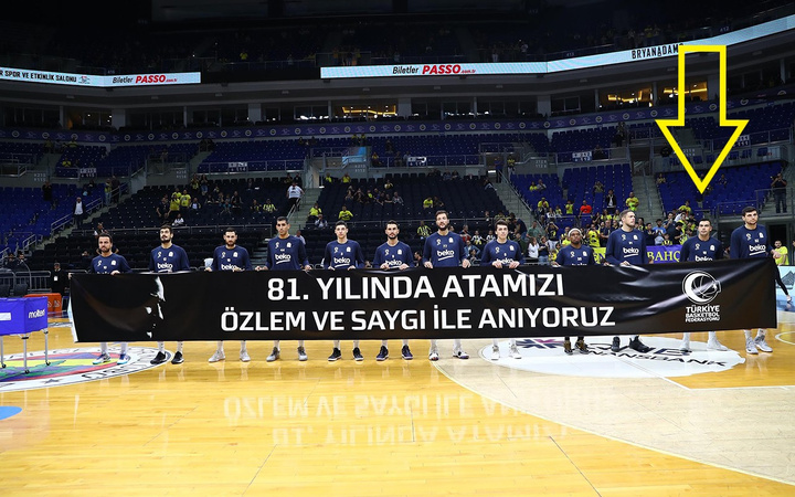 Atatürk pankartına dokunmayan Fenerbahçeli Kostas Sloukas tepki çekti