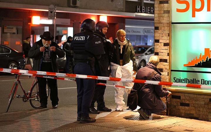 Almanya'yı sarsan kafe saldırısından fotoğraflar