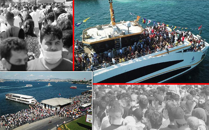 İstanbul'dan tedirgin eden görüntüler! Sosyal mesafe hiçe sayıldı