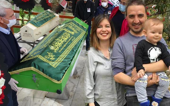 İzmir depreminde ölen 3 kişilik Küçükyumuk ailesi son vedada ayrıldı