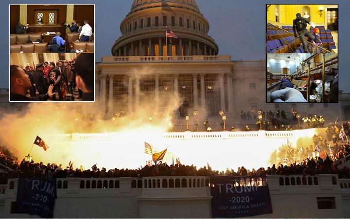 ABD'de kaos! Trump destekçileri Kongre'yi işgali etti dünya basını olayları nasıl gördü?