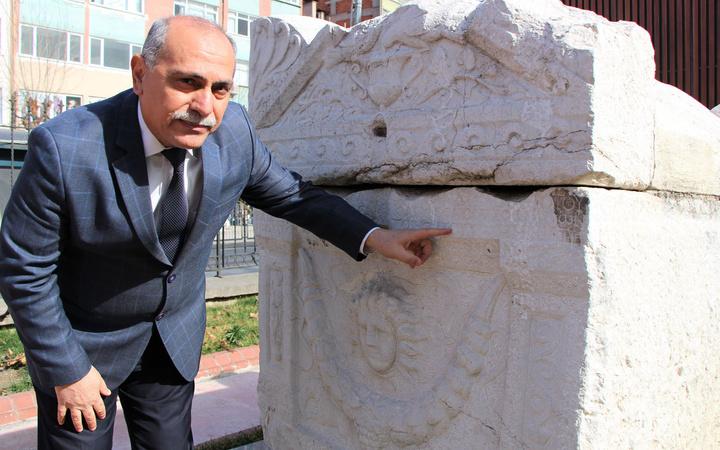Amasya ilinde bulunan 1700 yıllık lahitte yazılan beddua ürküttü