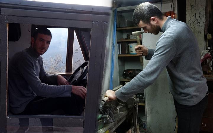 10 bin lira harcayıp hurdalardan 12 günde yaptı! Trabzon'da görenler şaştı kaldı