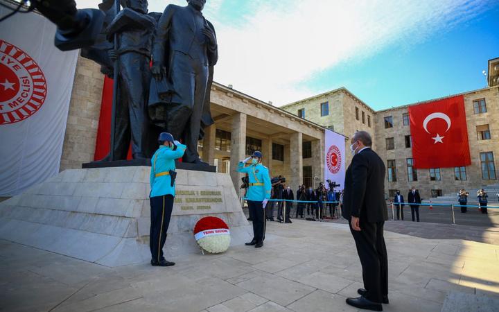 23 Nisan törenleri TBMM'de yapıldı! Birinci Meclis'te tören düzenlendi