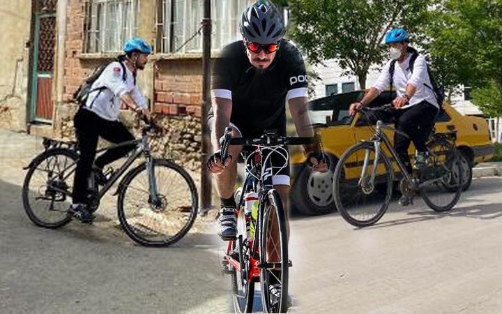 İzmir'de 'bisikletli doktor' deyince herkes tanıyor 50 kilo verdi eski halini gören inanamadı