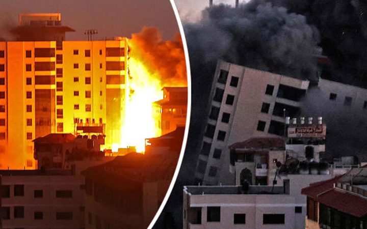 İsrail vahşette sınır tanımıyor! Gazze'ye bomba yağdırıyor