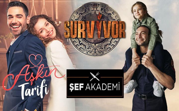 Aşkın Tarifi Kahraman Babam Şef Akademi Survivor reytingde hüsrana uğradı! Zirve bakın kimin