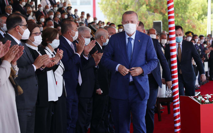Erdoğan Barış Harekatı yıl dönümü törenlerine katıldı