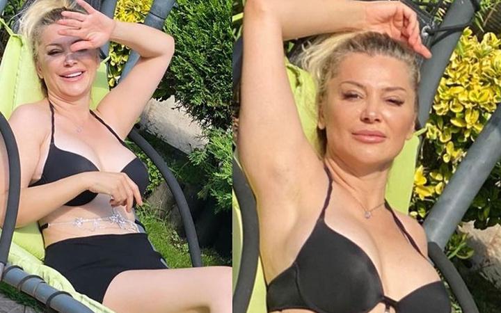 Songül Karlı'dan yeni bikinili pozlar 'Oğlum 'Hep bir yerlerin konuşuluyor anne' diyor'