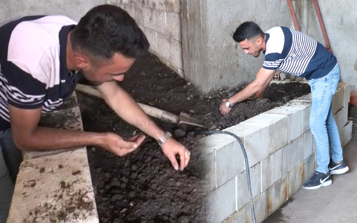 Gaziantep'te internetten görüp bu işe başladı! 20 yaşında ayda bir ton üretiyor