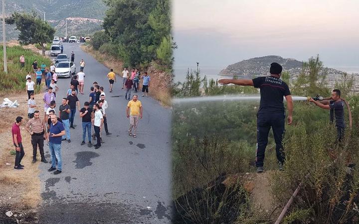 Alanya'da hainler iş başında: Yangın çıkarıp otomobille kaçtılar