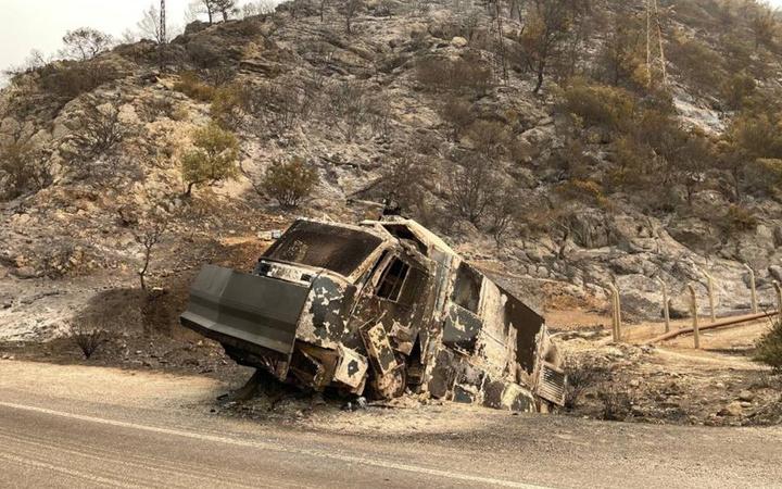 Yangından sonra Muğla'daki termik santralin hali görüntülendi