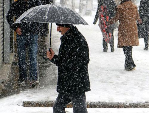Samsun hava durumu kar baladı!