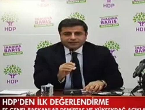 Selahattin Demirtaş'tan seçim değerlendirmesi