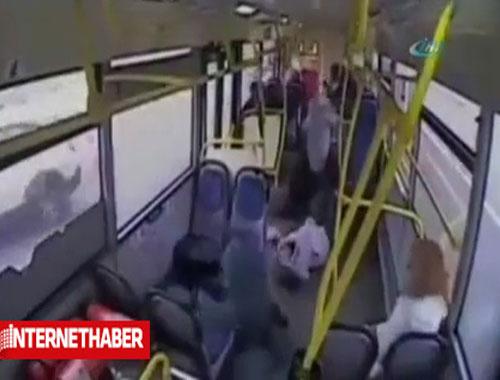 Uyuyan şoförün feci kazası kamerada
