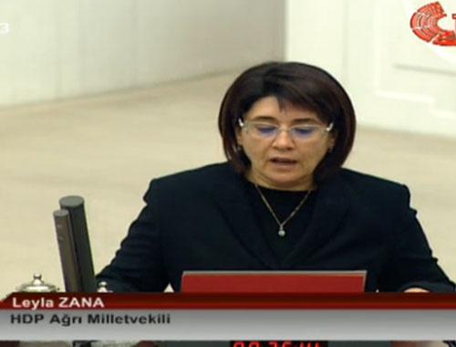 Leyla Zana yemine Kürtçe başlayınca itiraz edildi