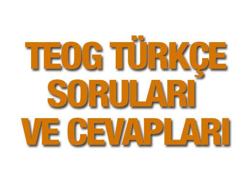 TEOG Türkçe soruları ve cevap anahtarı 25 Kasım 2015 EBA