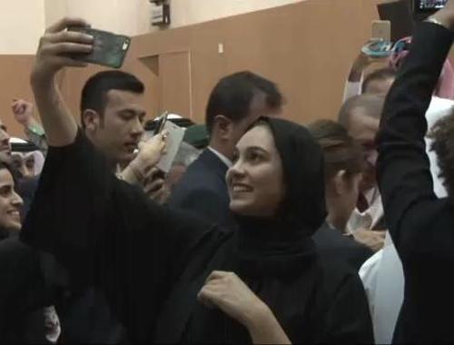 Katarlı öğrencilerin Erdoğan hayranlığı