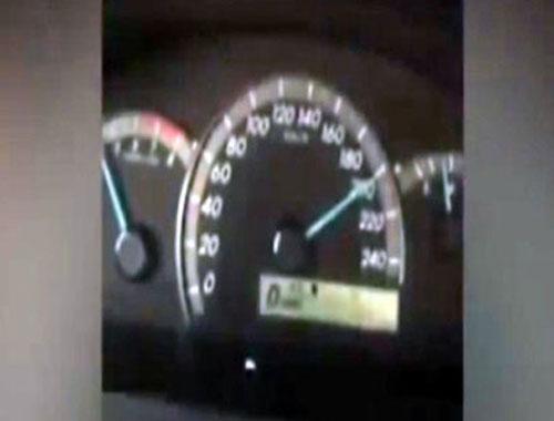 Saatte 200 km hızı kaydederken olanlar oldu