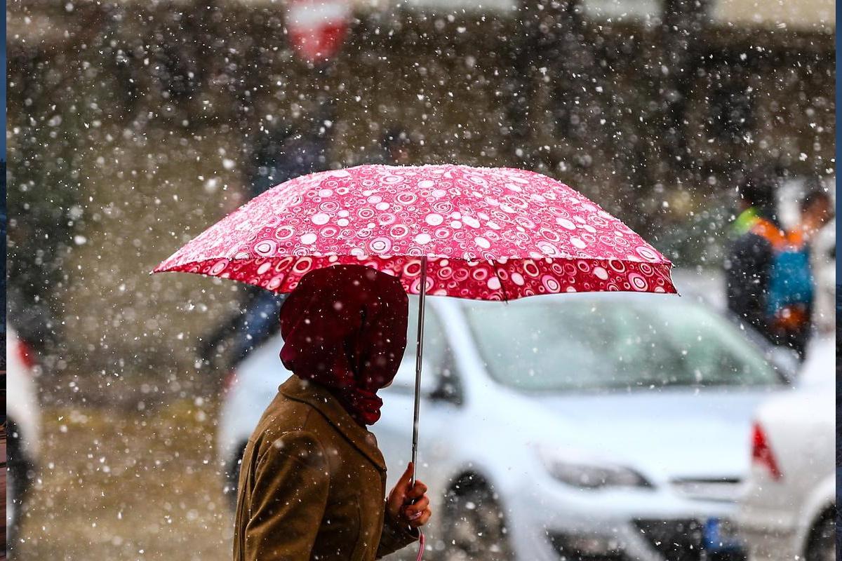 Ankara hava durumu kar yine başladı