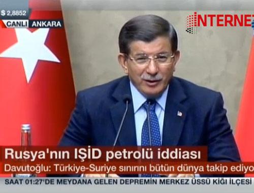 Ahmet Davutoğlu'ndan doğalgaz cevabı