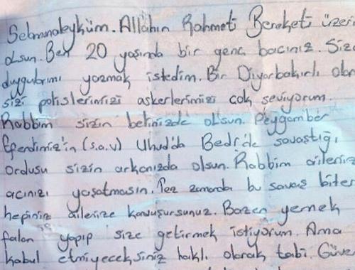 Genç Kızdan Surdaki Polislere Sarsıcı Mektup Internet Haber