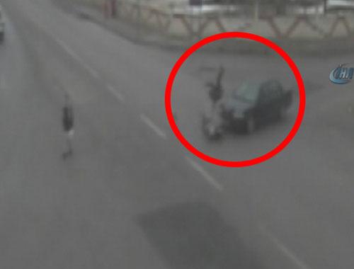 Karaman'da kazalar MOBESE kameralarında