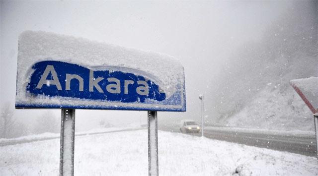 Ankara hava durumu kar fena bastırdı!