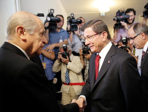 Bahçeli-Davutoğlu görüşmesi MHP vazgeçti!