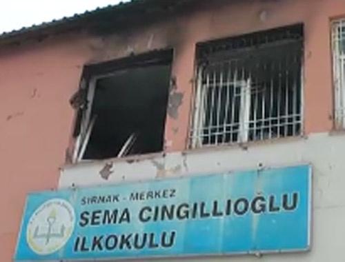 Şırnak'ta PKK'lı teröristler okulu ateşe verdi