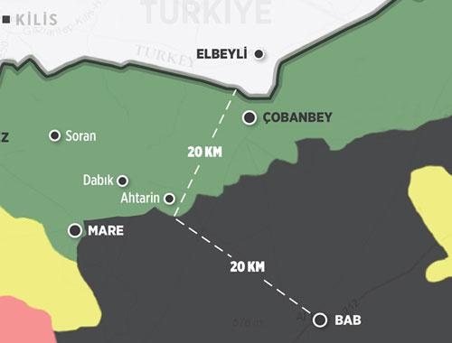 PKK ve PYD çöküyor 20 kilometre kaldı bu haritaya bakın