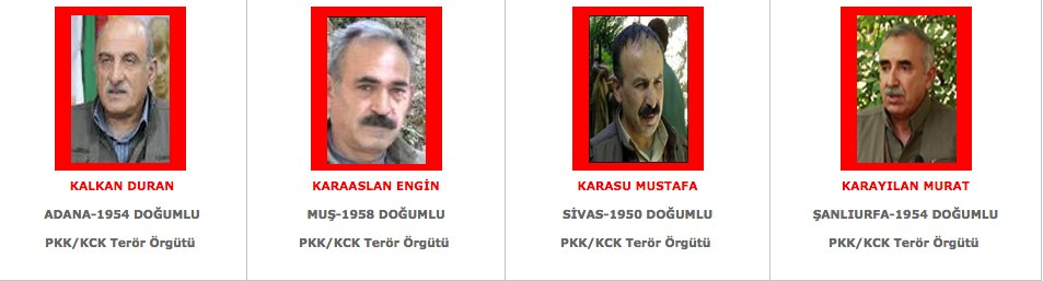 Kırmızı listede kimler var Gülen ve PKK'lılar için... - Internet Haber