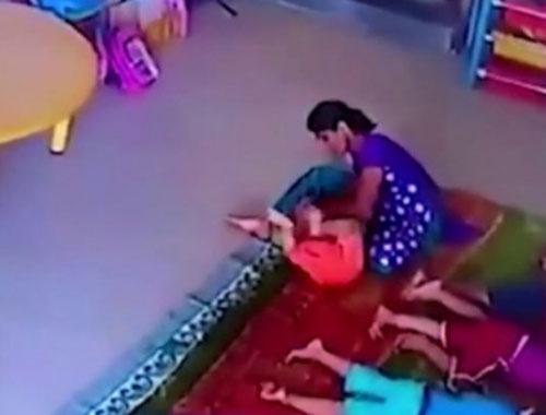 9 aylık bebeği acımasızca dövdü