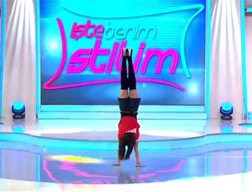 İşte Benim Stilim'de akrobatik hareketler!