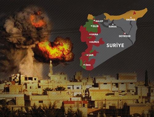 Suriye savaş haritası Rusya'dan sonra Halep, Lazkiye ve Dera...