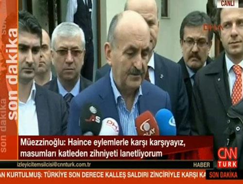 Mehmet Müezzinoğlu patlamaya ilişkin açıklamalar yaptı