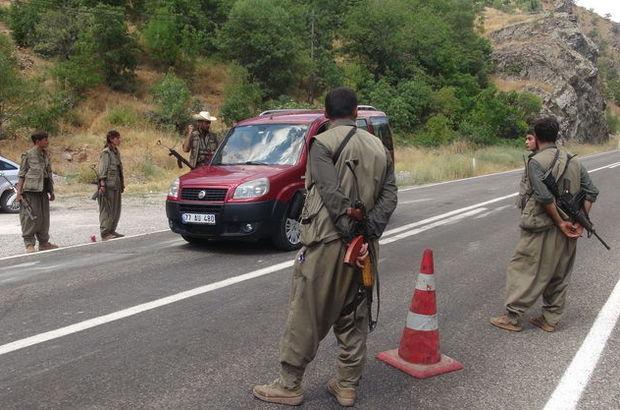 Teröristler Diyarbakır Bingöl karayolunu kesti!