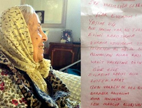 Hırsıza yazdığı notu Kuran'ın içinde buldu!