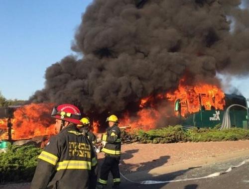 Kudüs'te otobüste patlama! 16 yaralı!