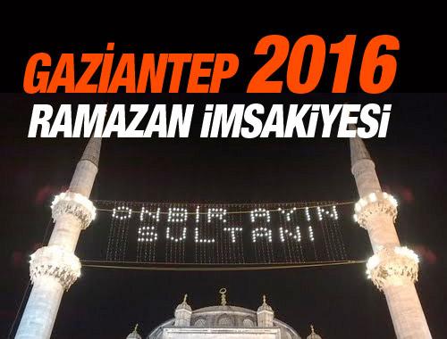 Gaziantep Imsakiye 2016 Iftar Ezan Saatleri Sahur Vakti