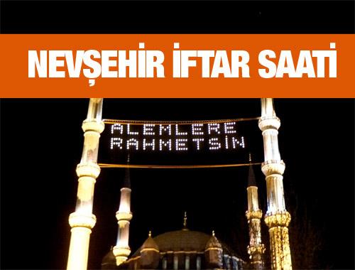 Nevşehir iftar vakti akşam ve sabah ezanı saatleri