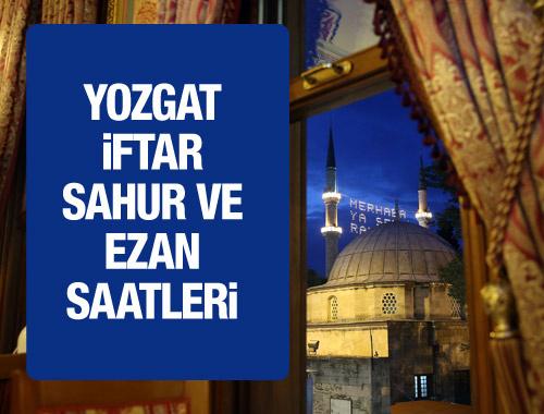 Yozgat iftar vakti 2016 sahur imsak saatleri