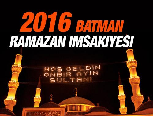 Batman iftar vakti sahur saatleri İmsakiye 2016
