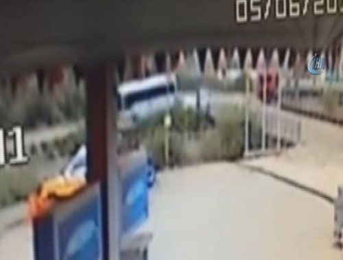 Osmaniye'deki korkunç kaza anı görüntüleri!