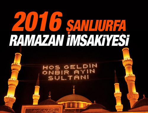 Şanlıurfa iftar vakti 8 Haziran 2016 imsakiye