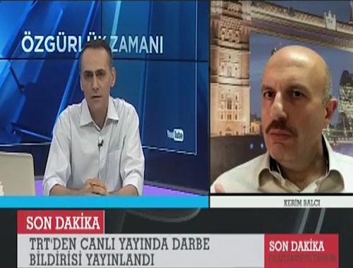 Kerim Balcı darbe gecesi görüntüleri Erdoğan'ı görünce...