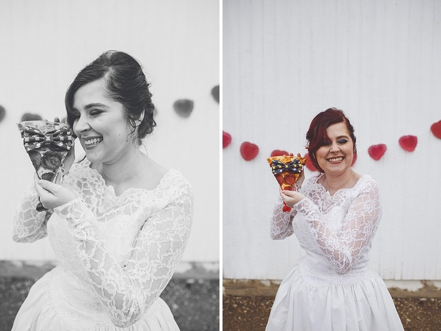 Pizzayla evlendi düğün yaptı pizzaya papyon taktı!